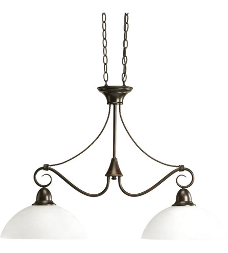 Progress Lighting Pavilion 2 Light Chandelier in Antique Bronze P4513-20 photo