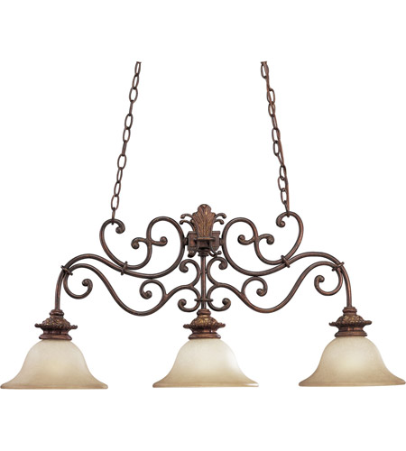 Progress Lighting Thomasville Messina 3 Light Chandelier in Aged Mahogany P4533-75 photo