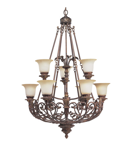 Progress Lighting Thomasville Messina 9 Light Chandelier in Aged Mahogany P4536-75 photo