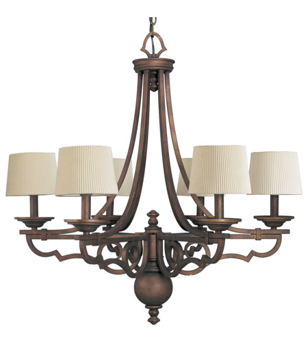 Progress P4567-102 Meeting Street 6 Light 30 inch Roasted Java Chandelier Ceiling Light photo