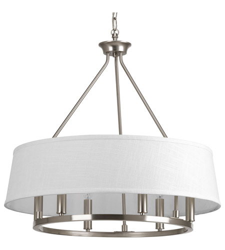 progress cherish light brushed nickel chandelier ceiling lighting 5 with black paper shades canopy