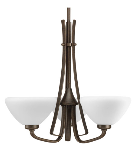 Progress Lighting Rave 3 Light Chandelier in Forged Bronze P4641-77 photo