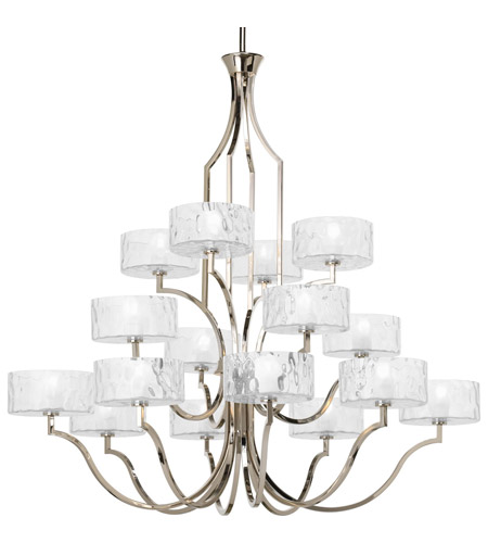 Progress P4685-104WB Caress 16 Light 47 inch Polished Nickel Chandelier Ceiling Light photo