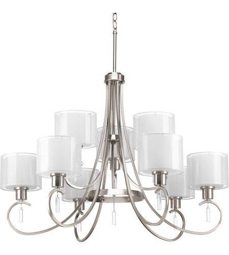 Progress P4697-09 Invite 9 Light 36 inch Brushed Nickel Chandelier Ceiling Light  sc 1 st  Progress Lighting Lights - Lighting New York : brushed nickel chandelier lighting - azcodes.com