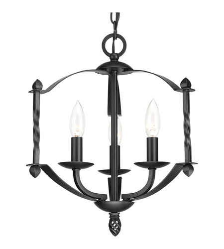 Progress p4709 31 greyson 3 light 14 inch black chandelier ceiling light aloadofball Gallery
