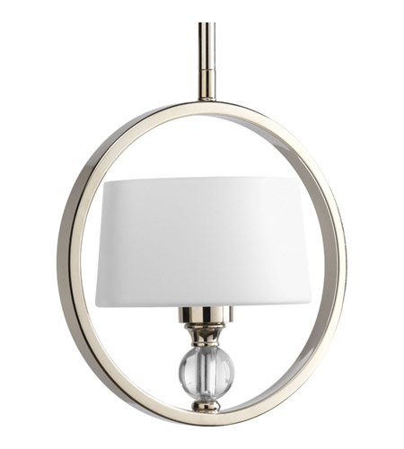 Progress Lighting Fortune 1 Light Pendant in Polished Nickel P5007-104 photo