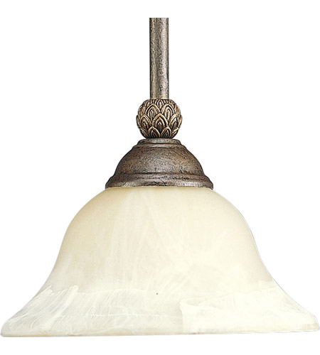 Progress P5040-86 Savannah 1 Light 9 inch Burnished Chestnut Mini-Pendant Ceiling Light photo