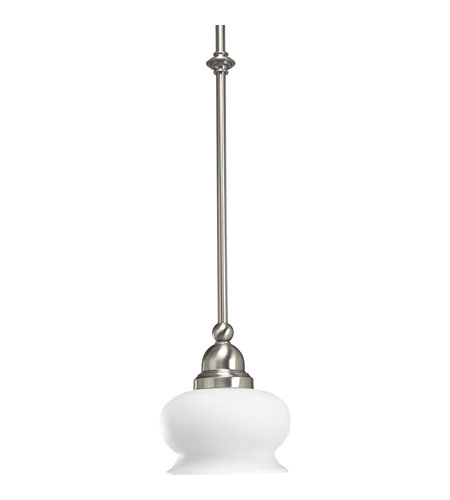 Progress Lighting Lawford 1 Light Mini-Pendant in Brushed Nickel P5043-09 photo
