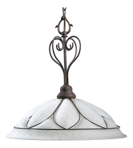 Progress Lighting Verona 1 Light Pendant in Cobblestone P5047-33 photo