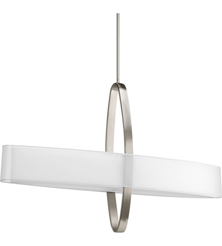 Progress P5049-09 Cuddle 6 Light 42 inch Brushed Nickel Pendant Ceiling Light in Bulbs Not Included, Standard photo