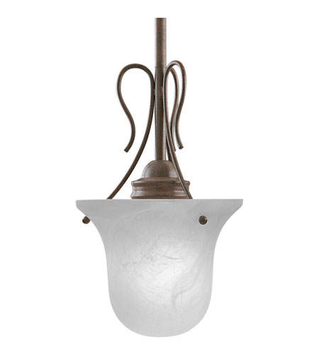 Progress P5053-33 Bedford 1 Light 7 inch Cobblestone Mini-Pendant Ceiling Light in Etched Alabaster photo
