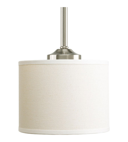Progress P5065-09 Inspire 1 Light 7 inch Brushed Nickel Mini-Pendant Ceiling Light photo