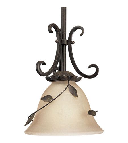 Progress P5077 77 Eden 1 Light 8 Inch Forged Bronze Mini Pendant Ceiling Light