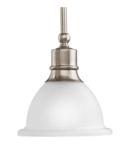 Progress Lighting Madison 1 Light Mini-Pendant in Brushed Nickel P5078-09 photo