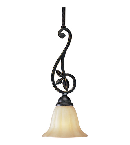 Progress P5083-84 Le Jardin 1 Light 7 inch Espresso Mini-Pendant Ceiling Light photo