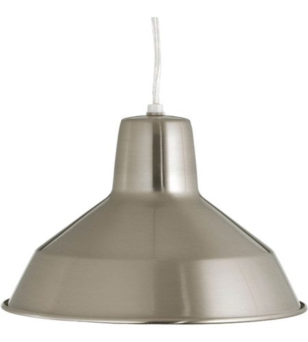 Progress P5087-09 Signature 1 Light 10 inch Brushed Nickel Pendant Ceiling Light in Standard photo