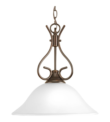 Progress P5091-20ET Signature 1 Light 15 inch Antique Bronze Pendant Ceiling Light in Etched photo