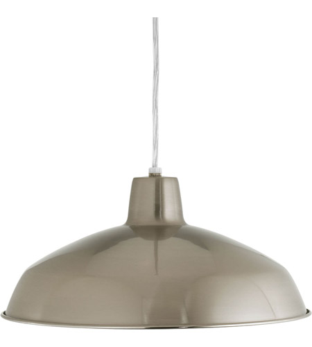 Progress P5094-09 Signature 1 Light 16 inch Brushed Nickel Pendant Ceiling Light in Standard photo
