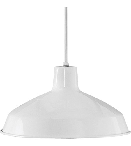 Progress P5094-30 Metal Shade 1 Light 16 inch White Pendant Ceiling Light in Standard photo
