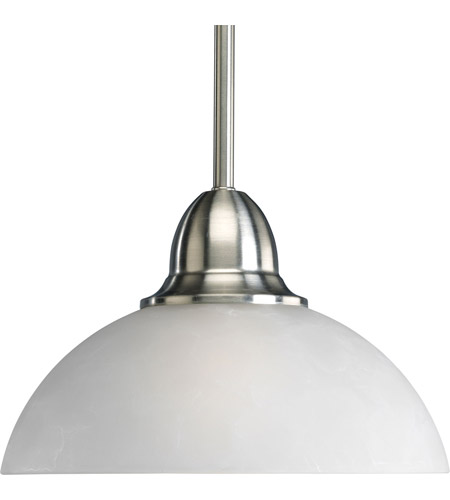 Progress P5125-09 Pavilion 1 Light 10 inch Brushed Nickel Mini-Pendant Ceiling Light photo