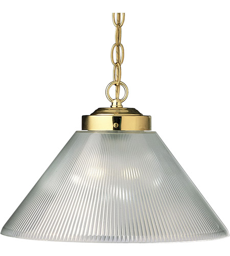 Progress Lighting Metal Shade 1 Light Pendant in Polished Brass P5127-10 photo