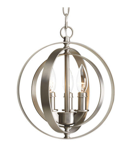 Progress P5142-126 Equinox 3 Light 10 inch Burnished Silver Pendant Ceiling Light photo