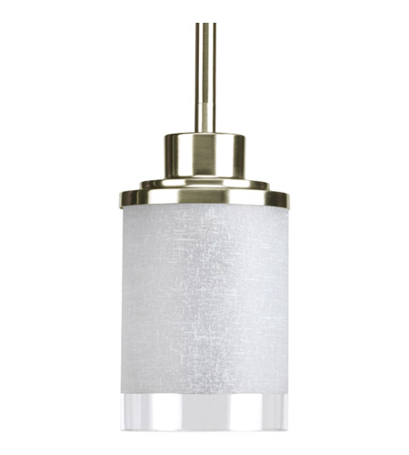 progress p5147 09 alexa 1 light 4 inch brushed nickel mini pendant