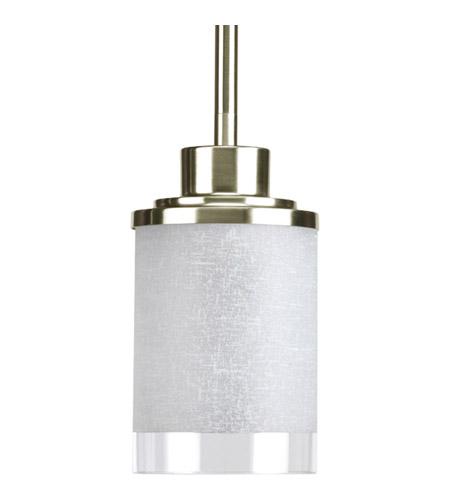 Progress P5147 09 Alexa 1 Light 4 Inch Brushed Nickel Mini Pendant