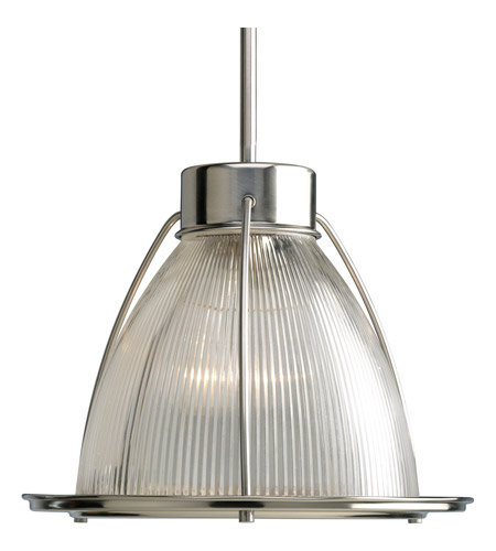 Progress P5182-09 Glass Pendants 1 Light 13 inch Brushed Nickel Mini-Pendant Ceiling Light photo
