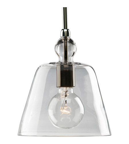 Progress P5184-104 Glass Pendants 1 Light 8 inch Polished Nickel Mini-Pendant Ceiling Light  photo