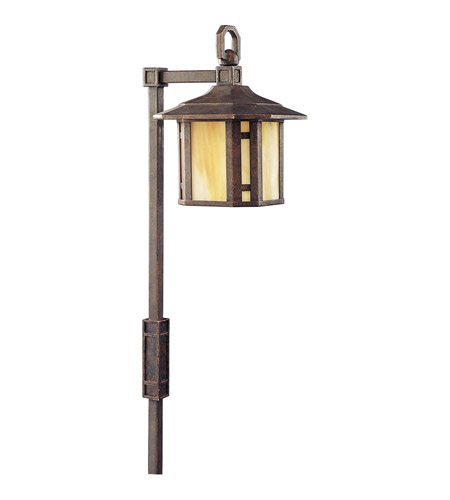 Progress Lighting Arts and Crafts 1 Light Landscape in Weathered Bronze P5272-46 photo