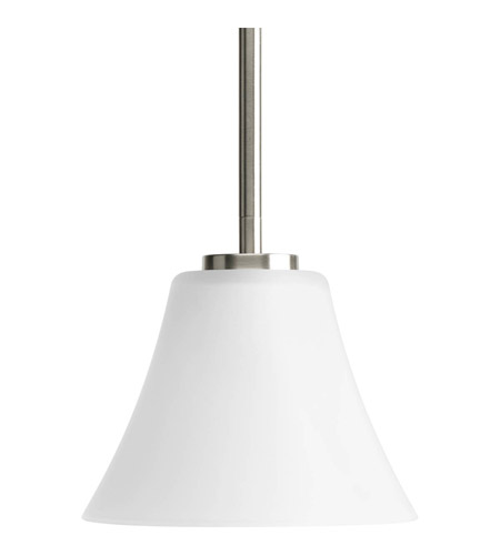Progress P5300-09 Bravo 1 Light 7 inch Brushed Nickel Mini-Pendant Ceiling Light in Bulbs Not Included, Etched photo