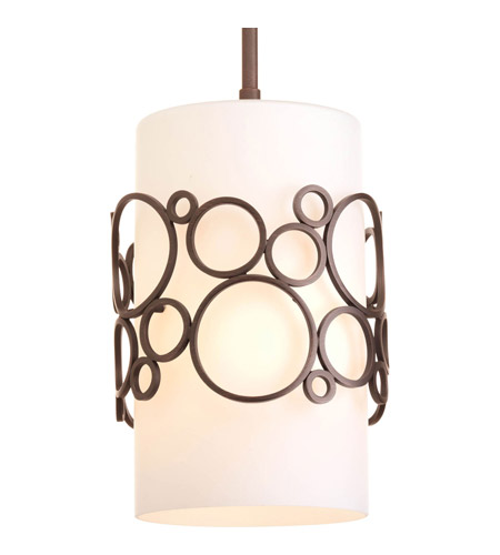 Progress P5314-74 Bingo 1 Light 8 inch Venetian Bronze Mini-Pendant Ceiling Light photo