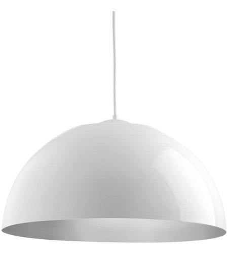 Dome led 22 inch white pendant ceiling light aloadofball Choice Image