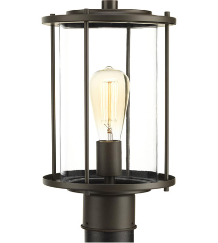 Progress P540020 020 Gunther 1 Light 14 Inch Antique Bronze Outdoor Post Lantern