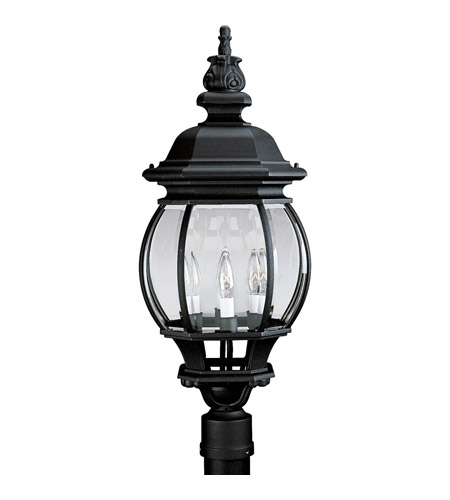 Progress P5401 31 Onion Lantern 4 Light 28 Inch Textured Black Outdoor Post  Lantern