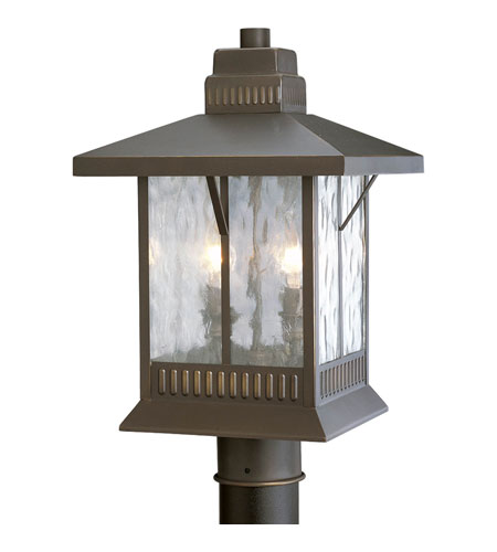Progress P5410-20 Aberdeen 2 Light 17 inch Antique Bronze Outdoor Post Lantern photo
