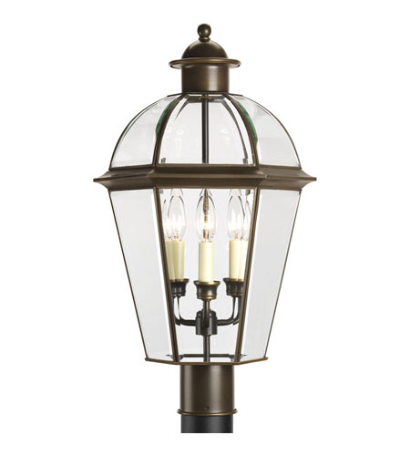 Progress Lighting Danbury 3 Light Outdoor Post Lantern in Antique Bronze P5431-20 photo