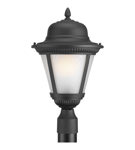 Progress p5434 31eb westport 1 light 19 inch black outdoor post progress p5434 31eb westport 1 light 19 inch black outdoor post lantern in etched seeded fluorescent aloadofball Image collections
