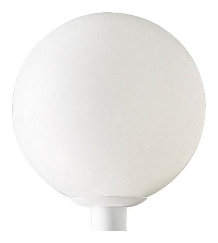 Progress Lighting Acrylic Globe 1 Light Outdoor Post Lantern in White P5436-60 photo
