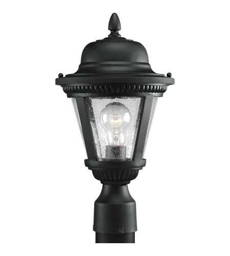 Progress Lighting Westport 1 Light Outdoor Post Lantern in Textured Black P5445-31 photo