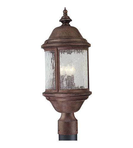 Progress Lighting Ashmore 3 Light Outdoor Post Lantern in Cobblestone P5450-33 photo