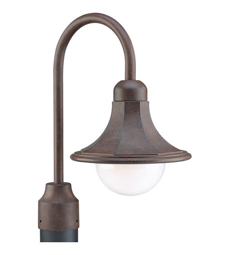 Progress Lighting Die-Cast Shade 1 Light Outdoor Post Lantern in Cobblestone P5454-33 photo