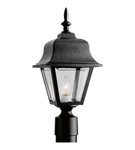 Progress Lighting Non-Metallic 1 Light Outdoor Post Lantern in Black P5456-31 photo