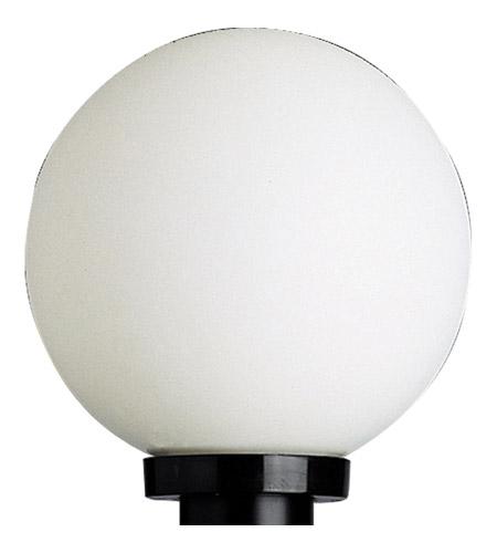 Progress P5478 60 Acrylic Globe 1 Light 10 Inch Black Outdoor Post Lantern