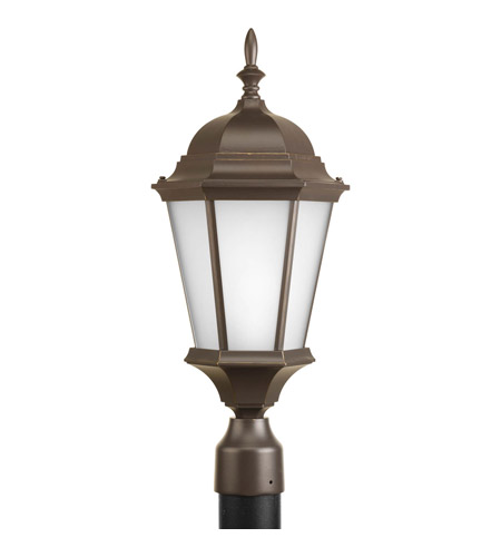 Progress P5482-20EB Welbourne 1 Light 21 inch Antique Bronze Outdoor Post Lantern in Etched, Fluorescent photo