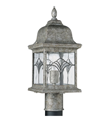 Progress Lighting Tiffany 1 Light Outdoor Post Lantern in Golden Baroque P5495-50