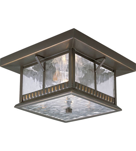 Progress Lighting Aberdeen 2 Light Outdoor Ceiling Lantern in Antique Bronze P5517-20 photo