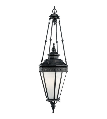 Progress Lighting Georgian 4 Light Outdoor Hanging Lantern in Gilded Iron P5521-71 photo