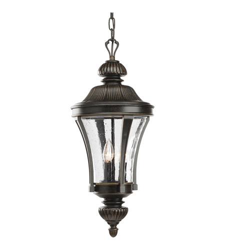 Progress Lighting Nottington 3 Light Outdoor Hanging Lantern in Forged Bronze P5538-77 photo